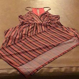 Striped long summer dress